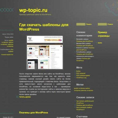 Бесплатный шаблон WordPress ASCII One