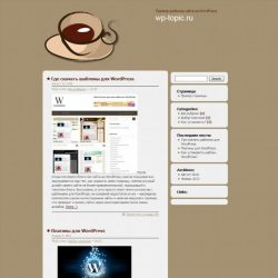 Бесплатный шаблон Wordpress Bloggers Cafe