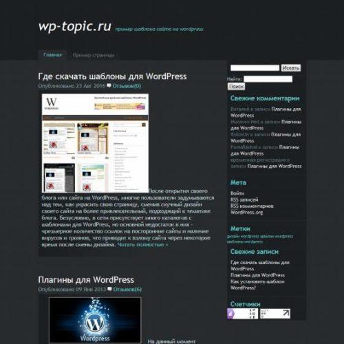 Бесплатный шаблон WordPress BlueMoon