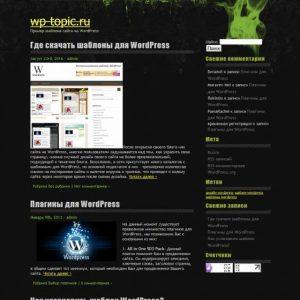 Бесплатный шаблон Wordpress Contaminated