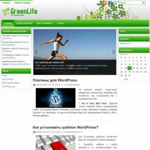 Бесплатный шаблон WordPress GreenLife