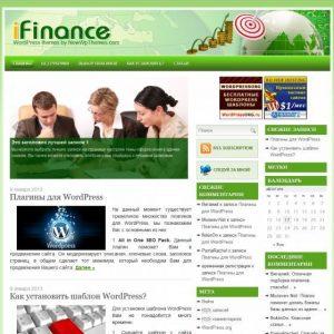 Бесплатный шаблон WordPress iFinance