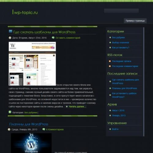 Бесплатный шаблон WordPress Insomniac