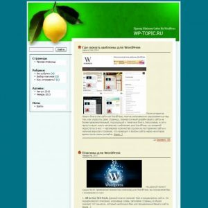 Бесплатный шаблон Wordpress Lonely Lemon