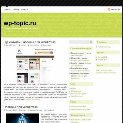 Бесплатный шаблон WordPress Pistachio