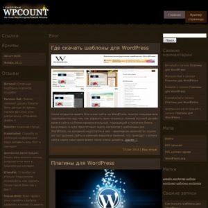 Бесплатный шаблон Wordpress Шаблон Count