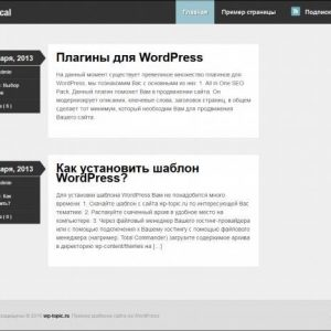 Бесплатный шаблон Wordpress Skeptical