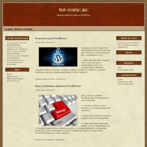 Бесплатный шаблон WordPress State Of Mind