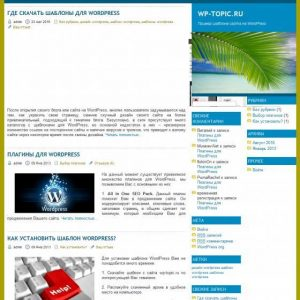 Бесплатный шаблон Wordpress Web Minimalist
