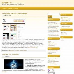 Бесплатный шаблон Wordpress WPorange3
