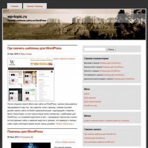Бесплатный шаблон WordPress Arizona