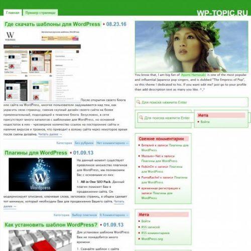 Бесплатный шаблон WordPress Ayumi