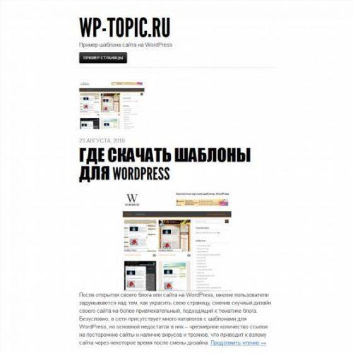 Бесплатный шаблон WordPress Blaskan