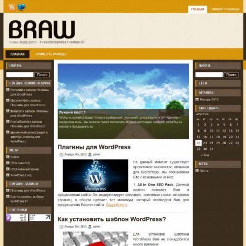 Бесплатный шаблон WordPress Braw