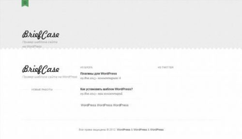 Бесплатный шаблон WordPress Briefcase