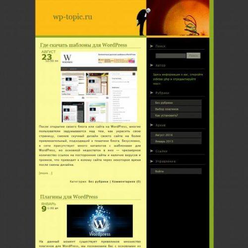 Бесплатный шаблон WordPress Clueless