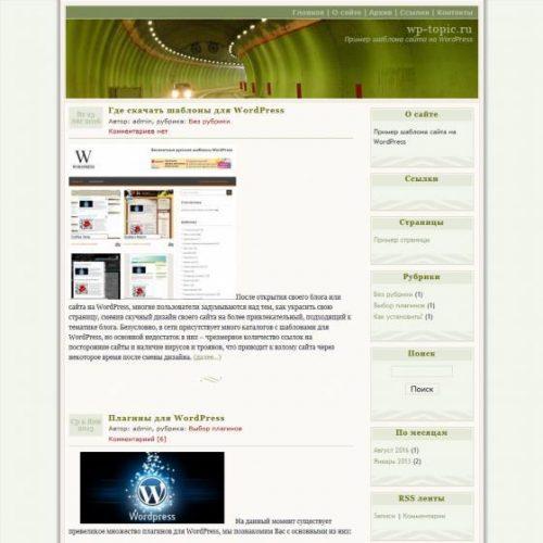 Бесплатный шаблон WordPress Connections