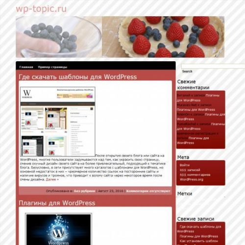 Бесплатный шаблон WordPress Cook off