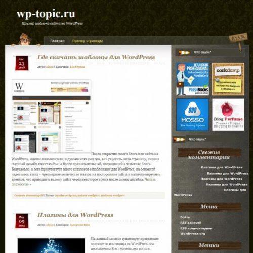 Бесплатный шаблон WordPress Curious