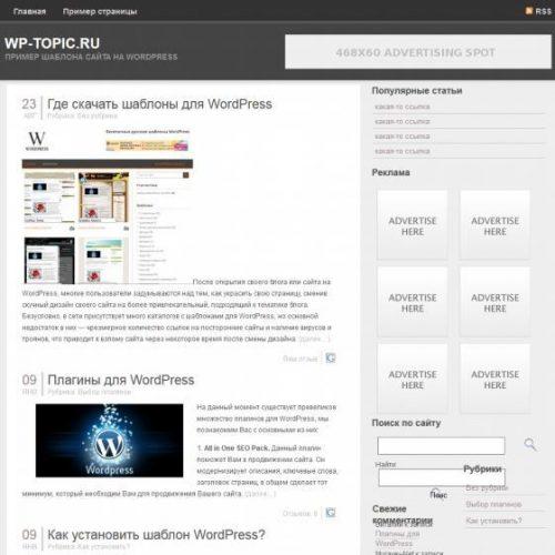 Бесплатный шаблон WordPress DarkZen