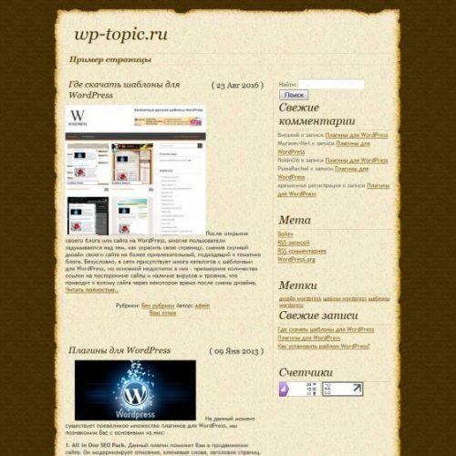 Бесплатный шаблон WordPress DaVinci Code
