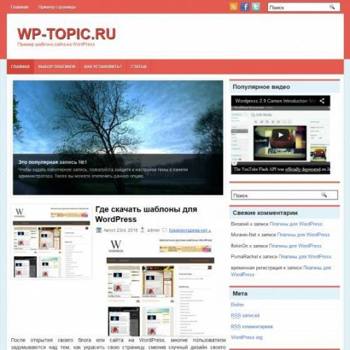 Бесплатный шаблон WordPress Diamante