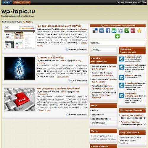 Бесплатный шаблон WordPress EnLight