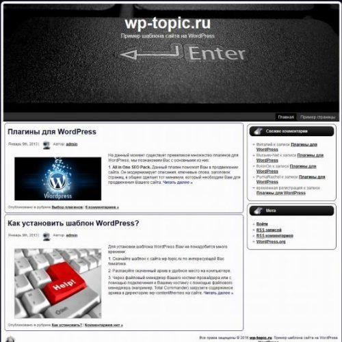 Бесплатный шаблон WordPress Enter Button