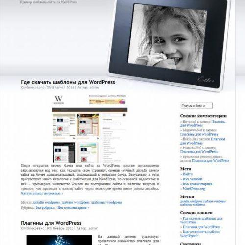 Бесплатный шаблон WordPress Esther