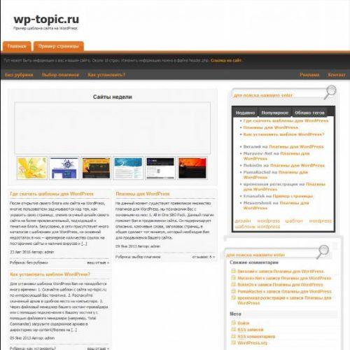 Бесплатный шаблон WordPress E-Storage Plus