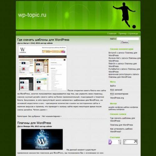 Бесплатный шаблон WordPress Football Season