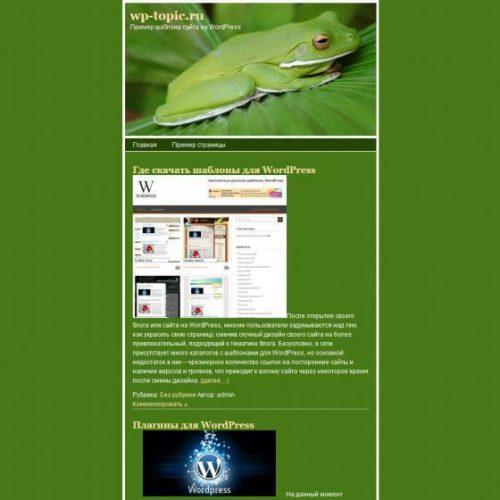 Бесплатный шаблон WordPress Frog