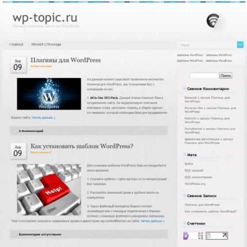 Бесплатный шаблон WordPress Grey100