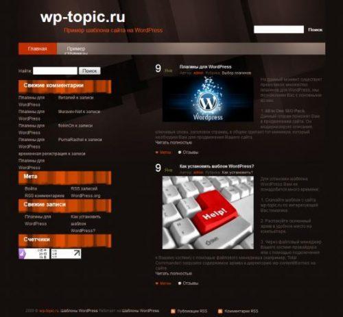 Бесплатный шаблон WordPress Grunger