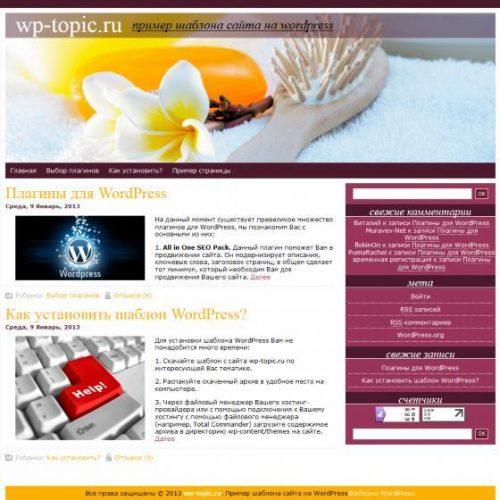 Бесплатный шаблон WordPress Hair Care