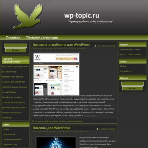 Бесплатный шаблон WordPress Lucky Bird