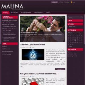 Бесплатный шаблон WordPress Malina