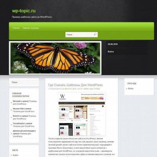 Бесплатный шаблон WordPress Martin