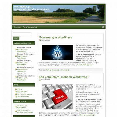 Бесплатный шаблон WordPress Naturegreen