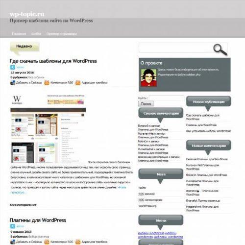 Бесплатный шаблон WordPress Nobus