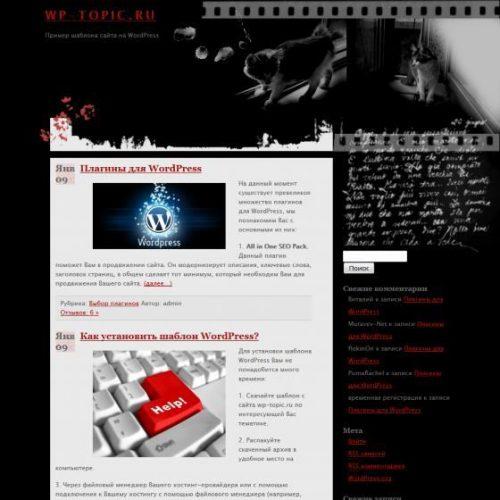 Бесплатный шаблон WordPress Noir
