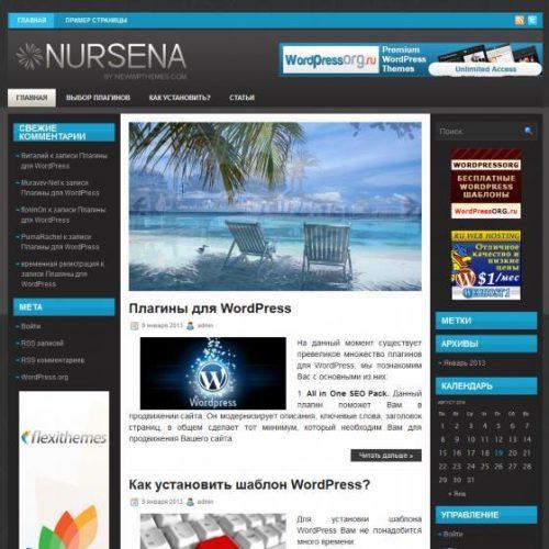 Бесплатный шаблон WordPress NURSENA