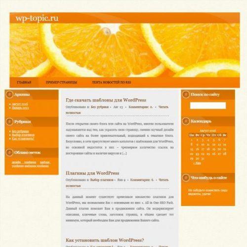 Бесплатный шаблон WordPress Orange Fruit