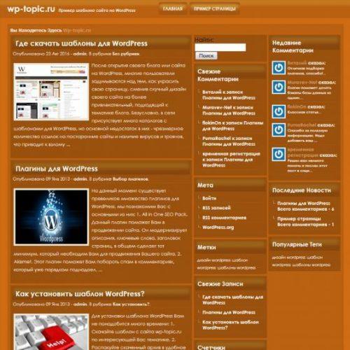 Бесплатный шаблон WordPress Orenis