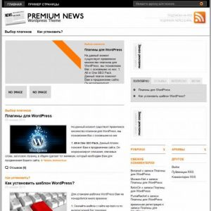 Бесплатный шаблон WordPress Original Premium News