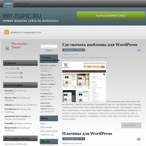 Бесплатный шаблон WordPress Persi