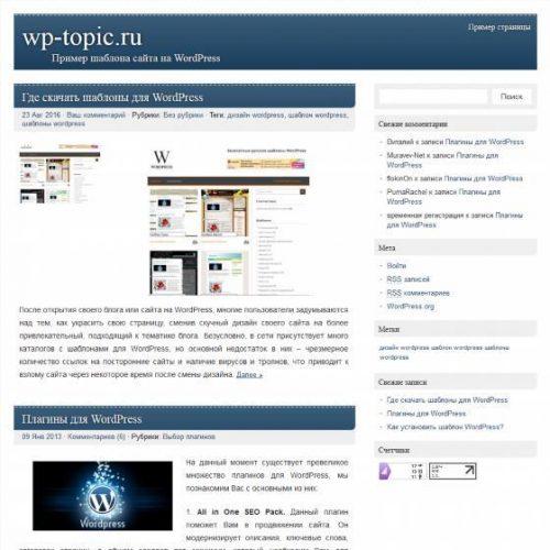 Бесплатный шаблон WordPress PicoClean