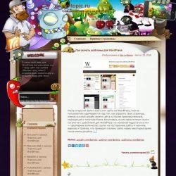 Бесплатный шаблон Wordpress Plants Vs Zombies