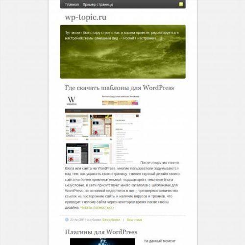 Бесплатный шаблон WordPress PocketT