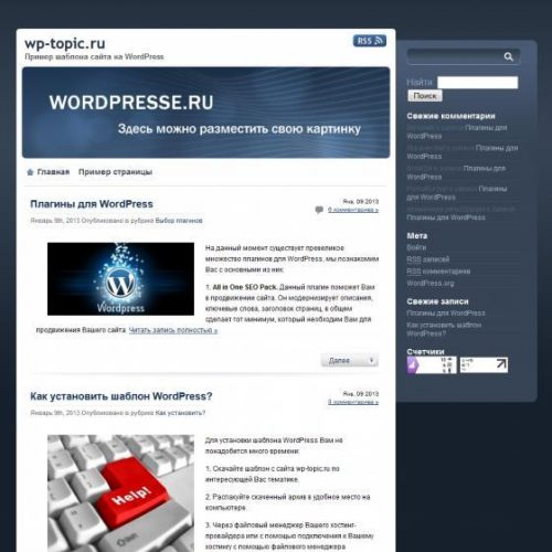 Бесплатный шаблон WordPress proSlate
